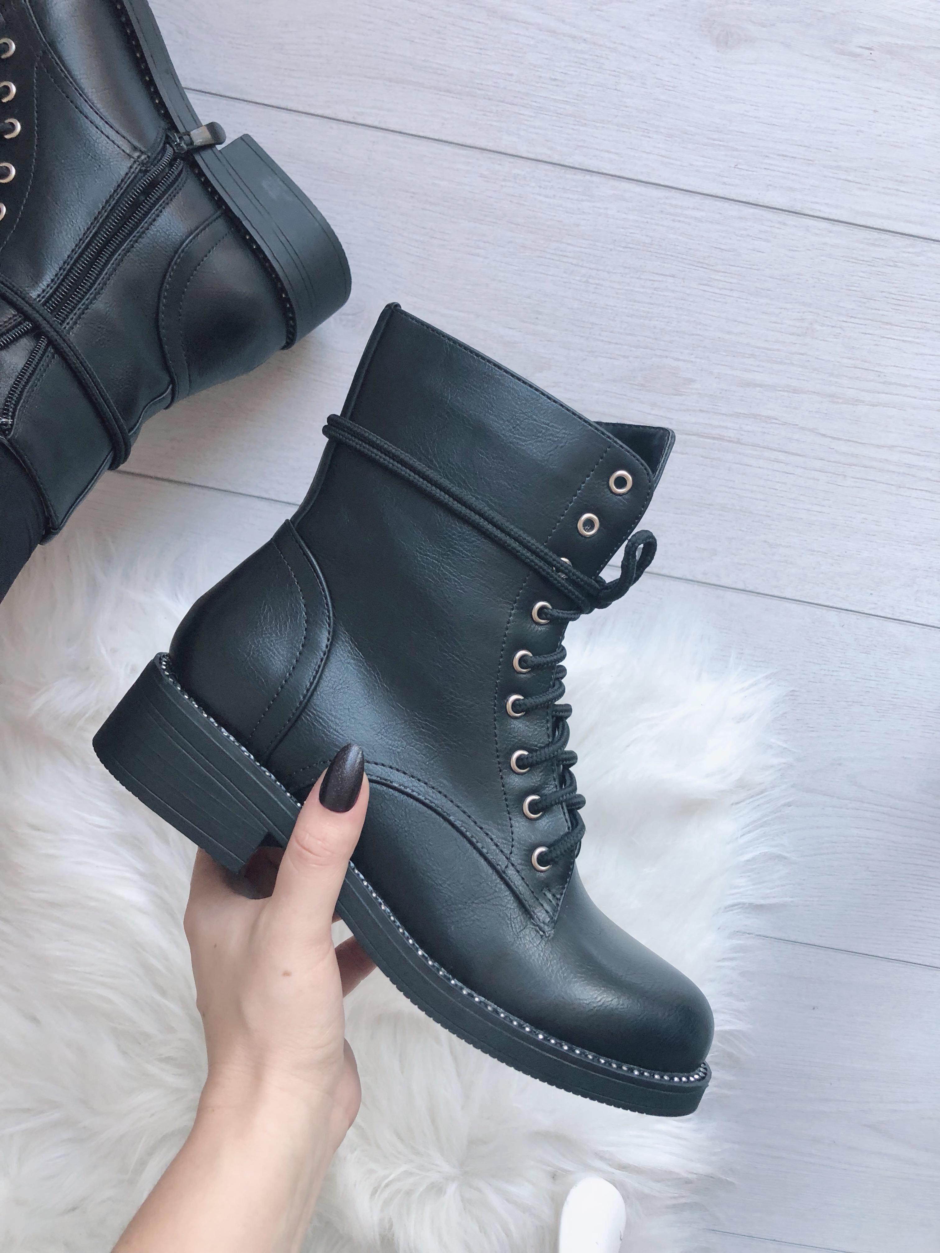 Gležnarji 7555-PA BLACK